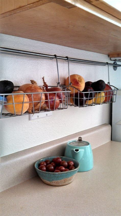 hanging kitchen storage tips to organize a small kitchen home apartment 1565