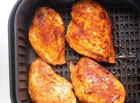bbq air fryer chicken breast  forking life