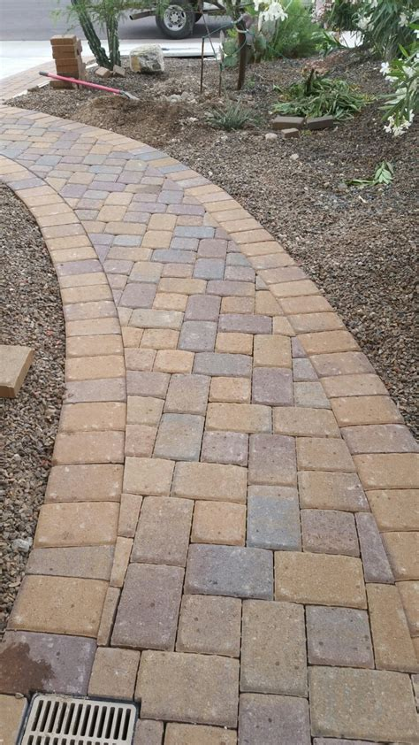 driveway paver patterns belgard cambridge cobble k pattern in a walkway in anthem arizona pavers installed company
