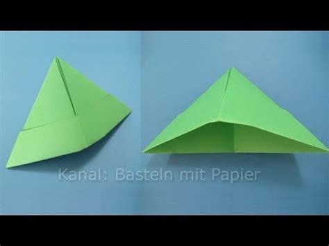 basteln papier papierhut falten hut basteln mit papier origami basteln mit kindern