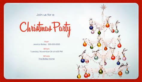 christmas party email invitations cimvitation