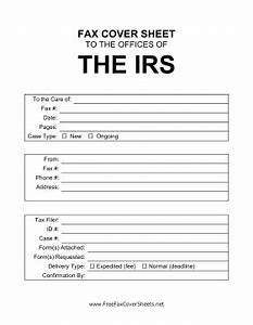 irs cover sheet fax cover sheet at freefaxcoversheetsnet With fax cover letter to irs