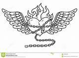 Flaming Tatouage Volare Hart Tatuaggio Fiammeggiante Liefde Chained Flamboyant Thorns Sizzling Unrequited Voler Chaîne Tatoegerings Tatui Testo Allineato Hartstochtelijk Doordrongen sketch template