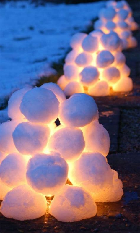 awesome diy christmas outdoor decorations snowball