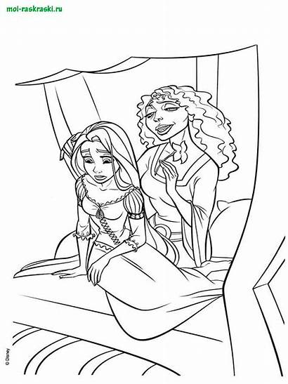 Rapunzel Coloring Tangled Printable Tower Gothel Mother