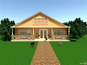 country home w/porch - House ideas - Planner 5D