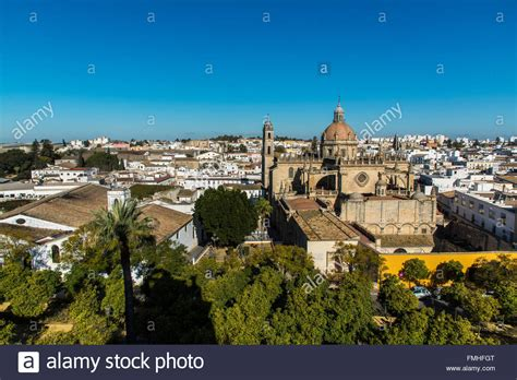 jerez spain frontera andalusia cathedral skyline alamy