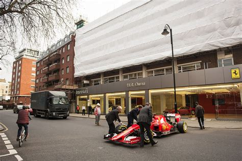 ferrari dealership ferrari dealership named world 39 s best gets 2015 f1 car