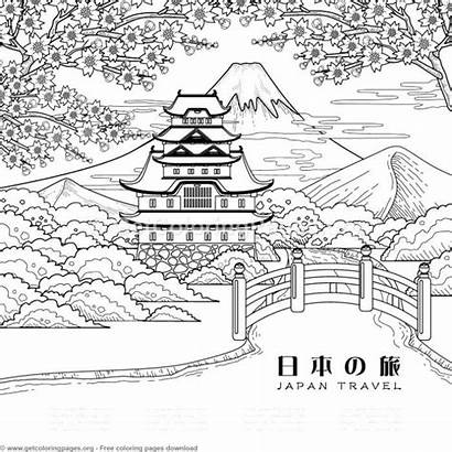 Coloring Pages Japanese Painting Getcoloringpages