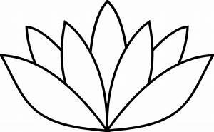 OnlineLabels Clip Art - White Lotus Flower
