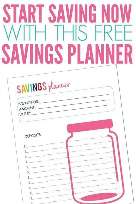 printable savings planner savings planner happy