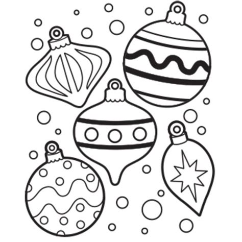 christmas ornaments coloring cut out ornament coloring pages getcoloringpages