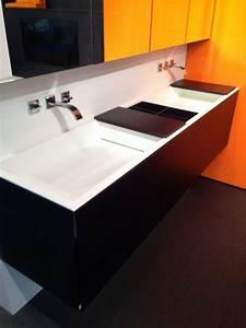 Vasque En Corian : meuble salle de bain corian vasque salle de bain corian ~ Premium-room.com Idées de Décoration