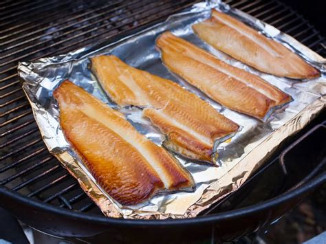 smoked trout grill smoked trout dad cooks dinner