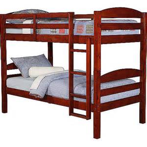 mainstays twin over twin wood bunk bed walmart com