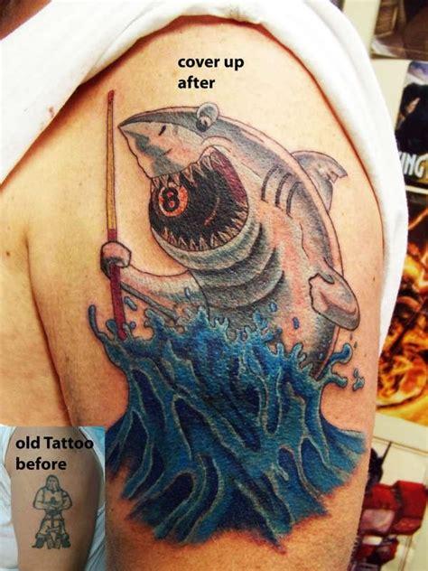 cool shark tattoo  bicep