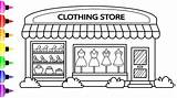 Store Coloring Drawing Pages Clothing Draw Clothes Colored Drawings Markers Paintingvalley Google sketch template
