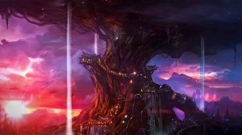 World Of Warcraft Night Elf Wallpaper Know Your Lore The World Trees Of Azeroth Blizzard Watch