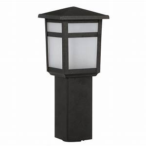 Path Light Low Voltage Led Integrated Black Square Outdoor