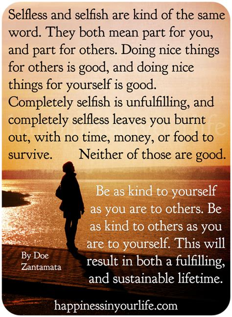 Quotes About Selfishness And Selflessness Quotesgram