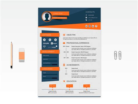 Stylish Resume Templates by Free Vector Stylish Resume Template For Seeker