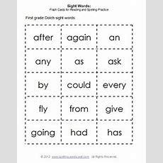 First Grade Sight Words & Flash Cards
