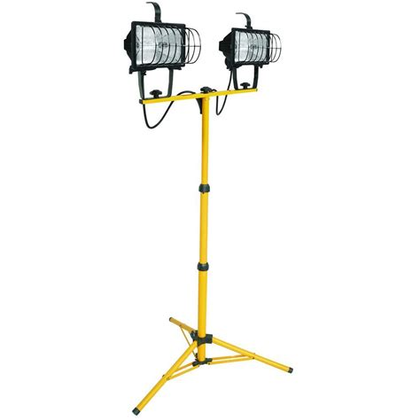 portable halogen work light lithonia lighting 2 light halogen portable tripod stand