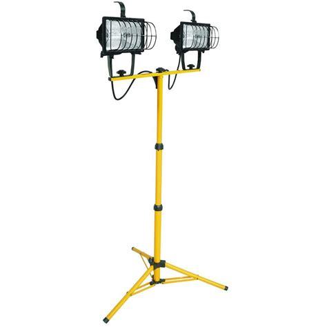 portable halogen work light lithonia lighting 2 light halogen portable tripod stand