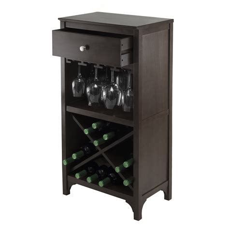 wine furniture cabinets winsome 92745 ancona modular wine cabinet with 1 drawer