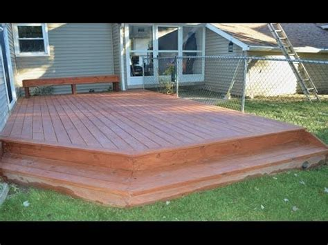 build  ground level deck youtube