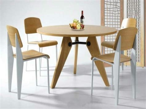 table de cuisine ikea bois optez pour la table ronde de design moderne