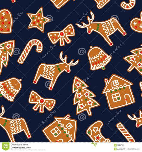 cute seamless pattern  christmas gingerbread cookies