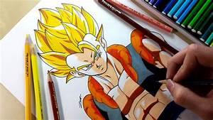 Drawing - Gogeta SSJ - YouTube
