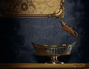 tapete harald gloockler uni gold 54465 With balkon teppich mit harald glööckler tapeten kollektion
