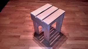 Simple wooden stool built using boards