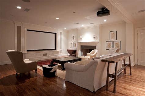 Restoration Hardware Soho Tufted Sofa by Movie Room Design Ideas