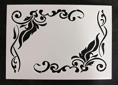 shabby chic stencils reusable stencil vintage corner flourishes furniture fabric french shabby chic ebay