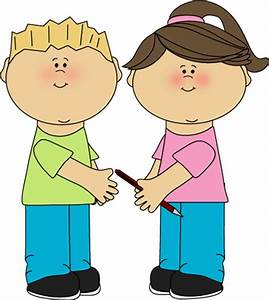 Kids Being Kind Clipart - ClipartXtras