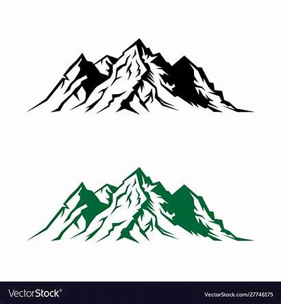 Silhouette Mountain Outdoor Landscape Vector Nature Royalty