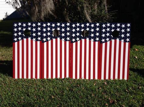 american flag set  sandlapper cornhole hand painted