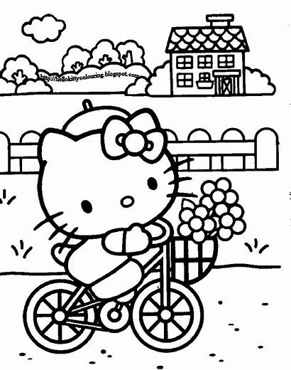Kitty Hello Coloring Pages Colouring Sheets Printable