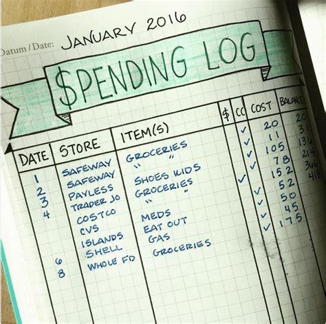 bullet journal  master  budget creditorg