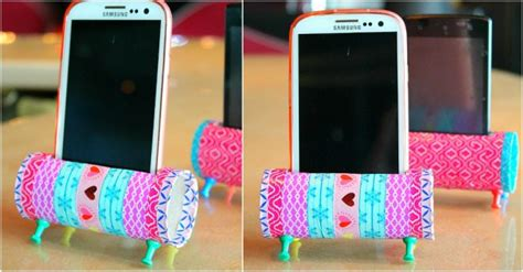 diy toilet paper roll phone stand