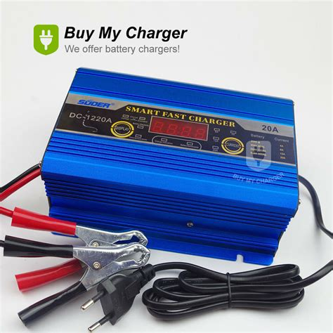 intelligent 12v 20a 200ah three phase smart fast battery charger led display ebay