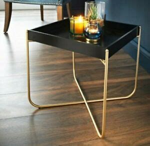 Check out our coffee table tray gold selection for the very best in unique or custom, handmade pieces from our decorative trays shops. Melrose Side Tray Coffee Table - Black and Gold Modern Home Decor Blogger Style   eBay