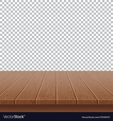 Top Vector Backgrounds by Wood Table Top On Isolated Background Royalty Free Vector