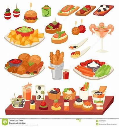 Starter Vector Clipart Appetizer Meal Snack Illustration