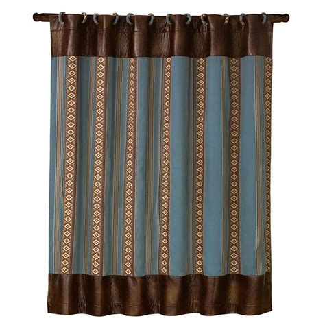 Cowhide Shower Curtain by Cowhide Micro Fiber Rider Shower Curtain With Coordinating