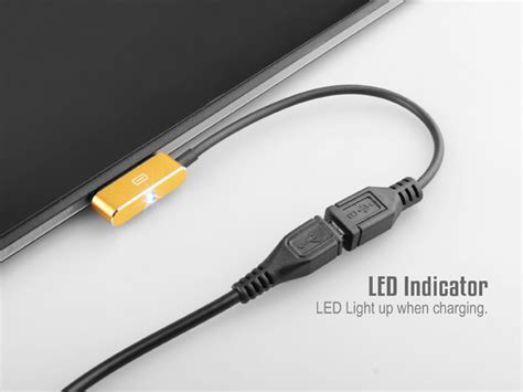 Led Usb Light by Magnetic Charging Cable To Micro Usb Adapter