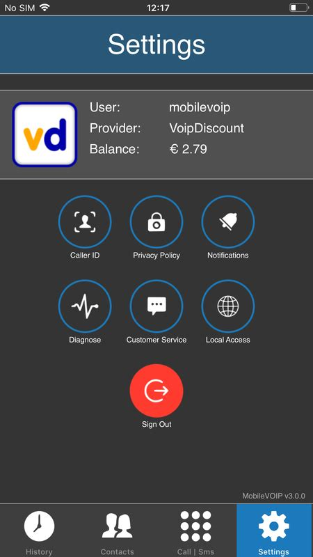 mobilevoip mobile voip app  iphone android  symbian